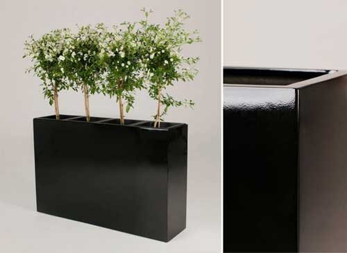 Kompromisslos elegant: Neue Blumenkübel und Raumteiler aus ...