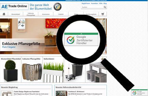 AE Trade Online ist Google Zertifizierter Händler