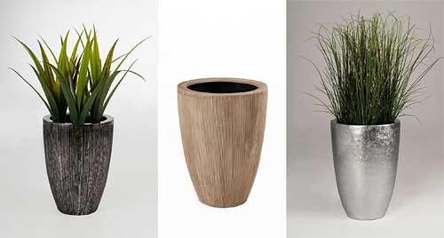 Exklusive Pflanzkübel raffiniertes design das exklusive pflanzgefäß opala geriffelt und