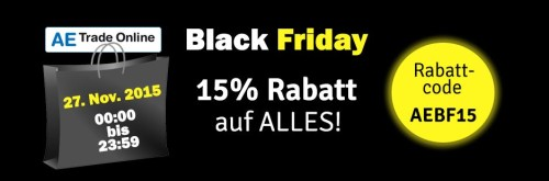 Black Friday bei AE Trade