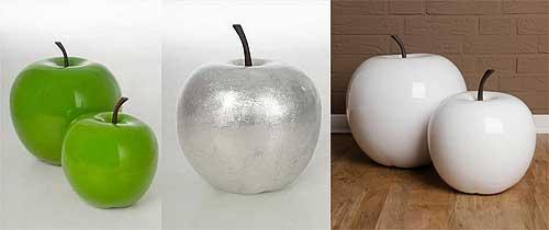 Deko-Äpfel in drei Farben