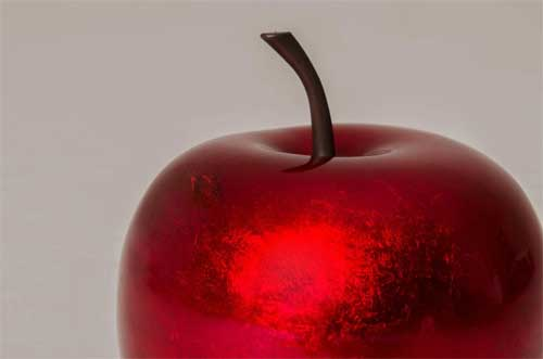 Deko-Apfel rot