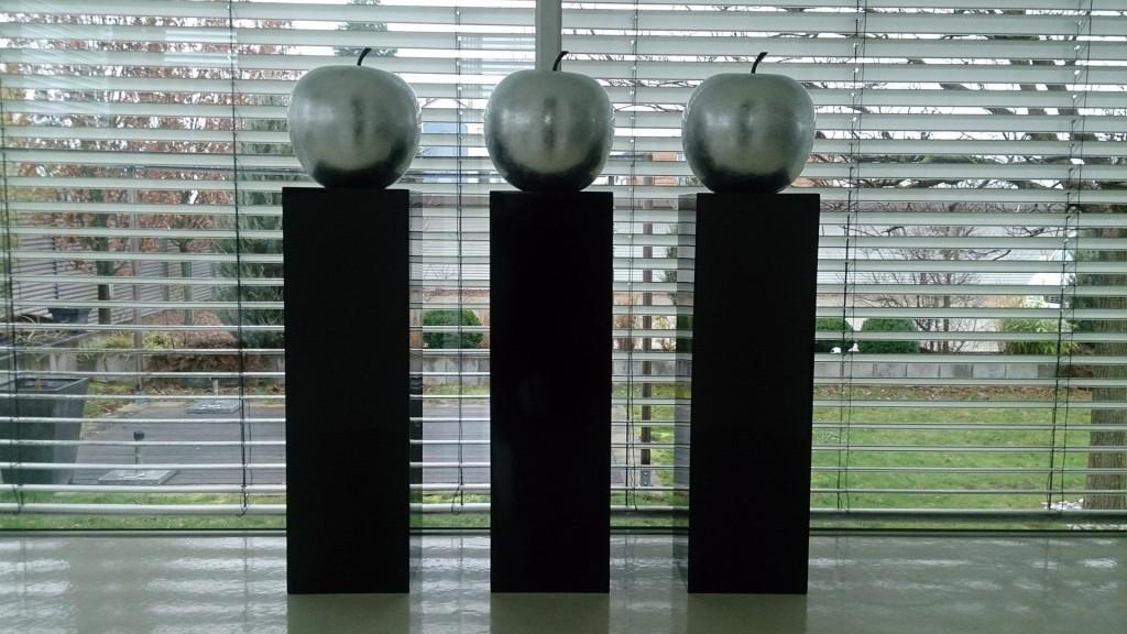 Pflanzkübel Fotowettbewerb Dezember 2015 Podest Deko Apfel