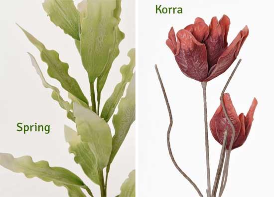 Kunstpflanzen Spring und Corra