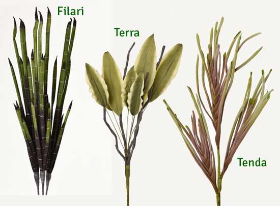 Kunstblumen Gräser