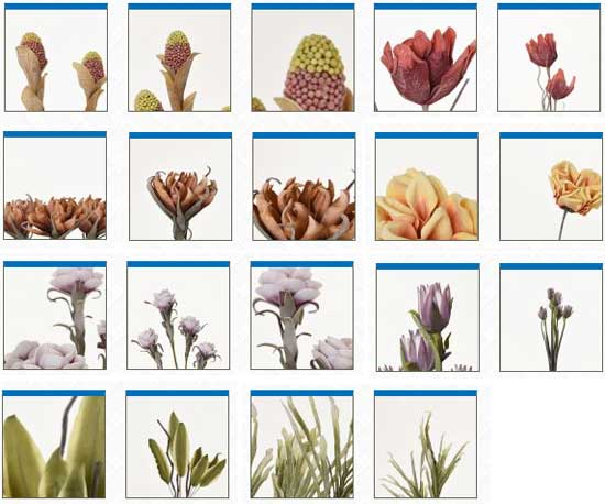 Kunstblumen im Shop