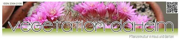 Vegetation daheim - Screenshot der Startseite