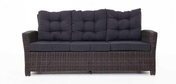 Sofa MIAMI aus Polyrattan