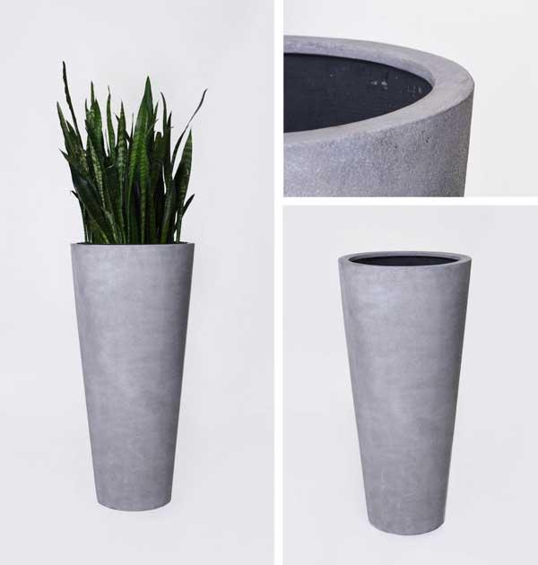 neue pflanzk bel aus fiberglas im trendigen beton design pflanzk bel blog von ae trade. Black Bedroom Furniture Sets. Home Design Ideas