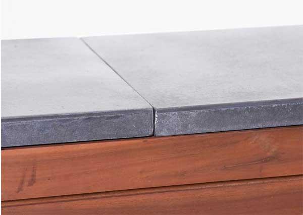 Sitzbank-Pflanzkübel-Kombination: Detail