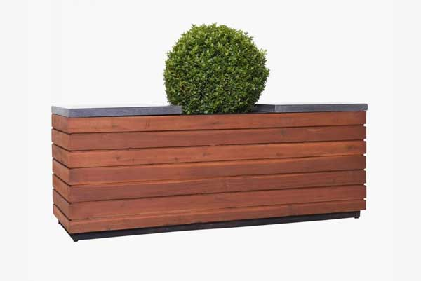 Sitzbank-Pflanzkübel-Kombination