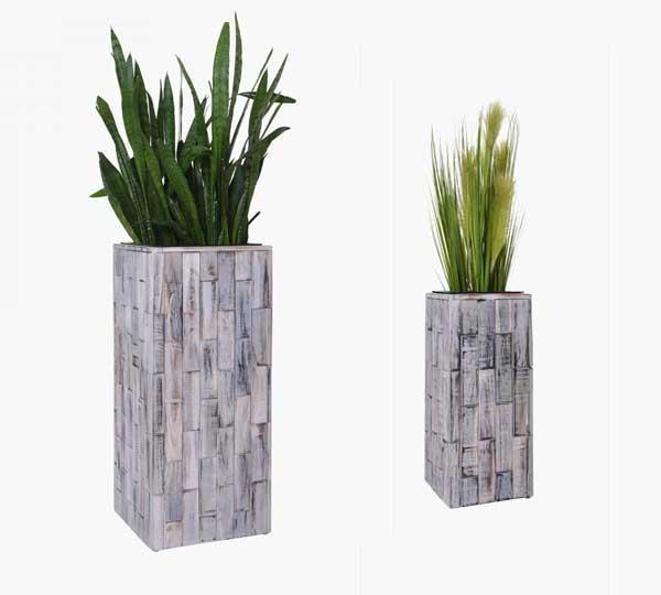 Nachhaltig schön: Pflanzkübel aus Recyclingholz im Shabby Chick ...