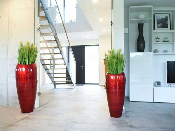 Pflanzkübel DELUXE81 Rot/Schwarz Hochglanz