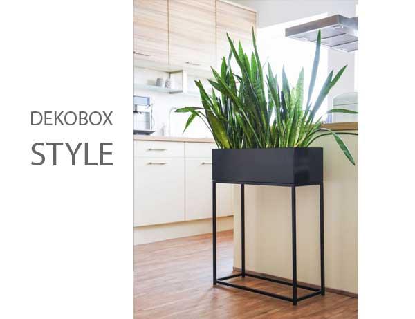 Dekobox Pflanzbox STYLE schwarz matt